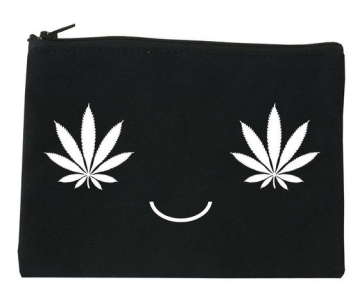 Pot Leaf Makeup Bag